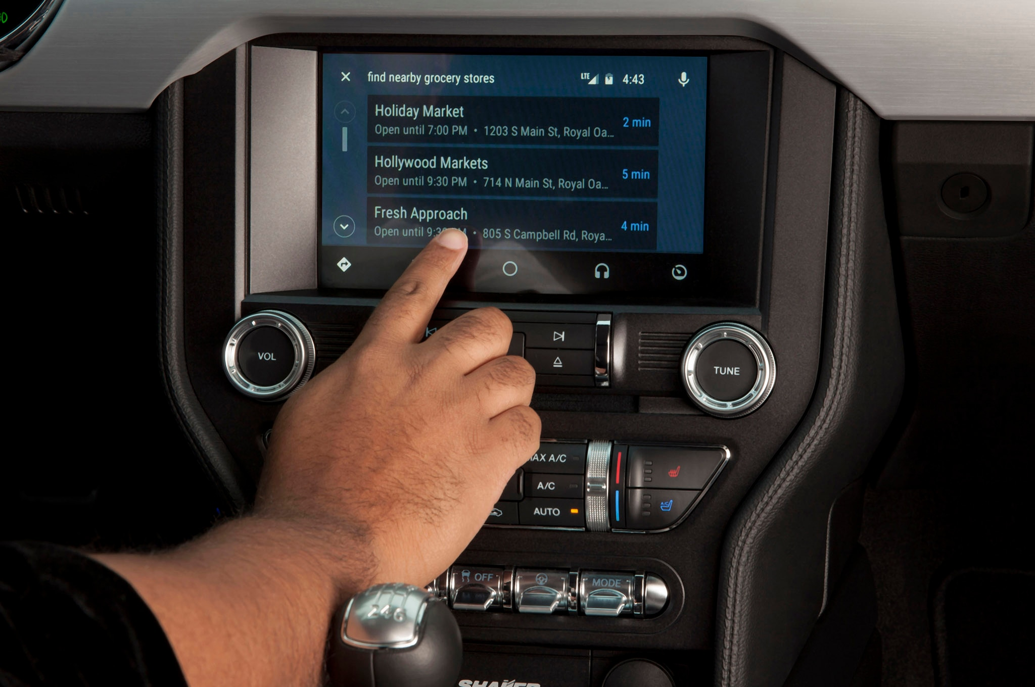 Ford Sync 3 Android Auto navigation 02