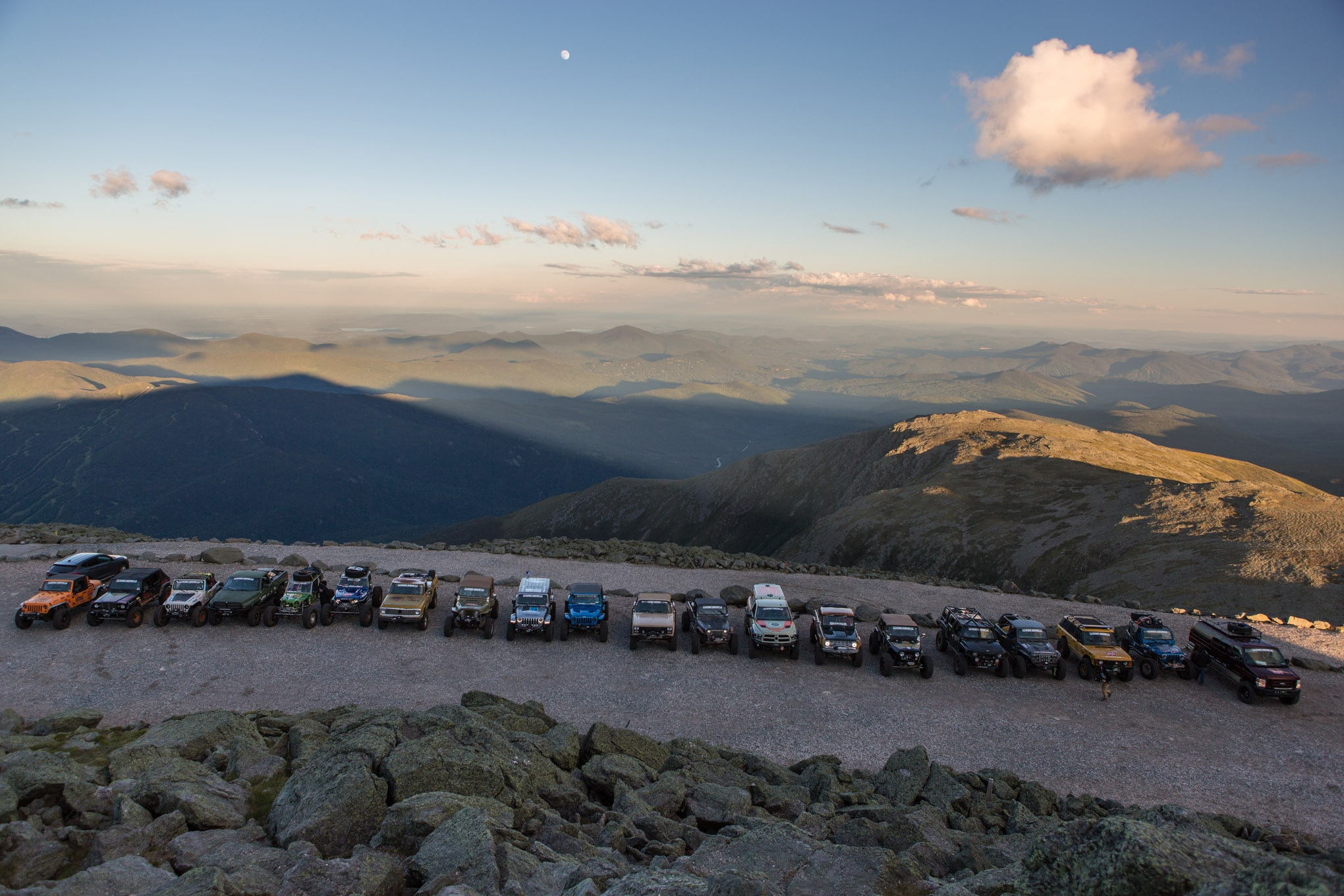 On a clear day you can see six states from the top of Mount Washington, along with the Atlantic Ocean and Canada. Despite its being cold and windy, we were blessed with an incredibly rare clear sky at the summit and beautiful views.