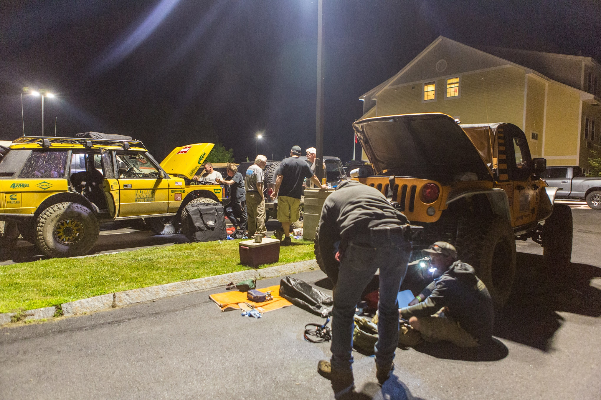 The end of each day was marked by repairs in campgrounds and hotel parking lots. Unlike last year, there was no catastrophic failures in 2018 and everyone made it to the finish line. Radiators and power steering pumps seemed to be the most common casualties this year, but each was dealt with quickly, and the group continued on together.