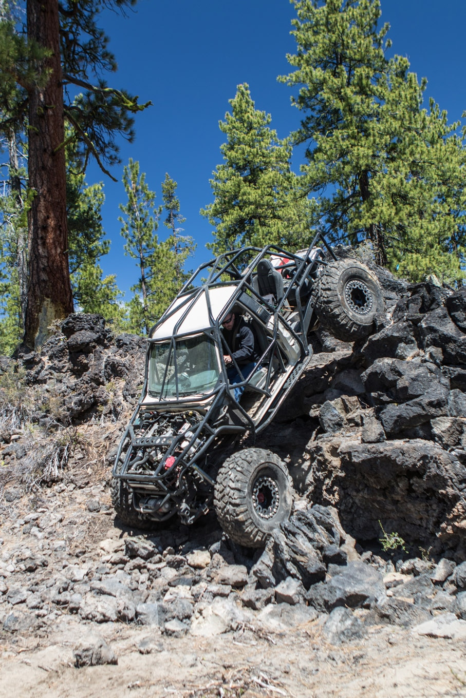 Trever and Bo Jolly had just returned from Costa Rica, and despite jet lag they didn't want to miss a day on the trail. Their Toyota 4Runner has seen the sheetmetal slowly go away in favor of tube, but it still has enough seats for the entire family. A 22RE and leaf springs provide simplicity, 1-ton axles were added for strength, and 42-inch Pit Bull Rockers deliver the ground clearance.