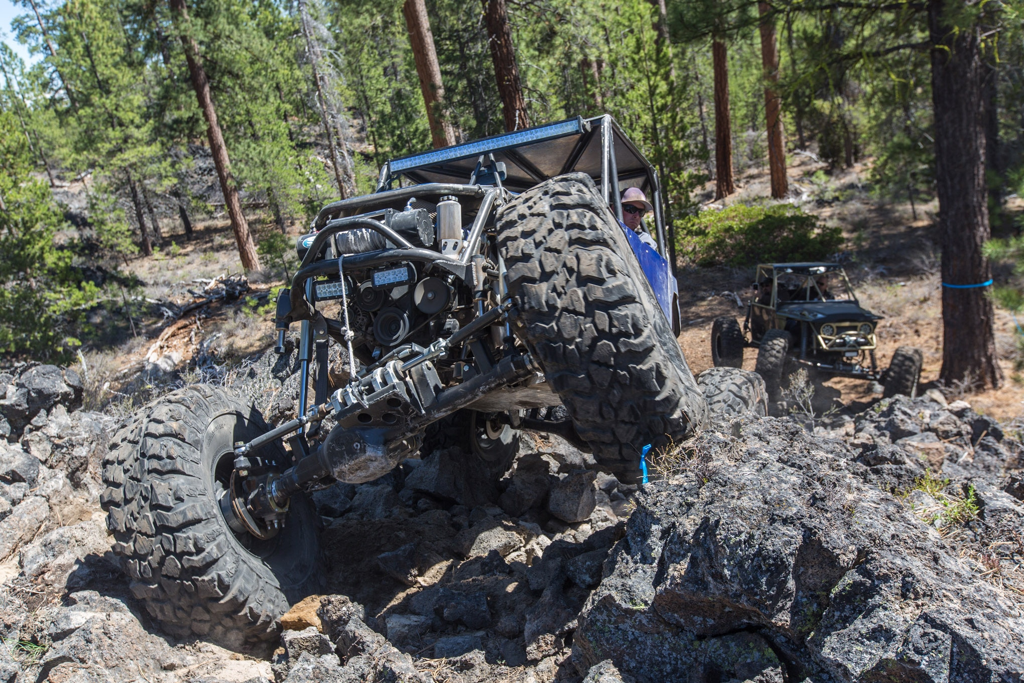 Will Bradford recently upgraded the tires on his buggy to 41.5-inch Pit Bull Rockers. The big meats are definitely testing the limits of the Toyota-based Trail-Gear axles, but the ground clearance is amazing. Bradford's buggy is lightweight and powered by a turbocharged 1.6L engine, which helps keep breakage to a minimum.