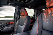 nissan navara dark sky concept interior front seat details