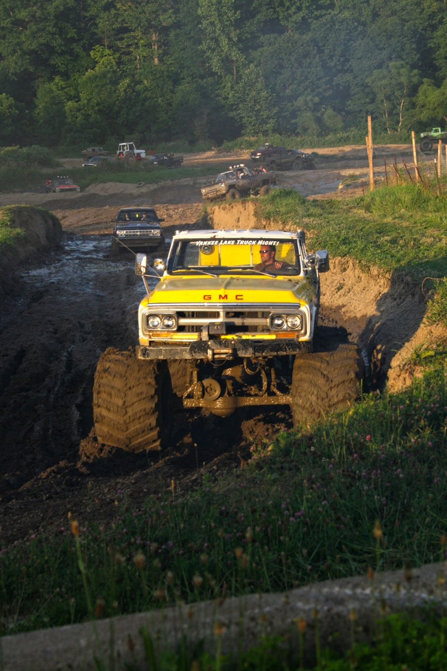 This second-gen GMC with Rockwell axles and monster truck rubbers made quick work of the mud drags.