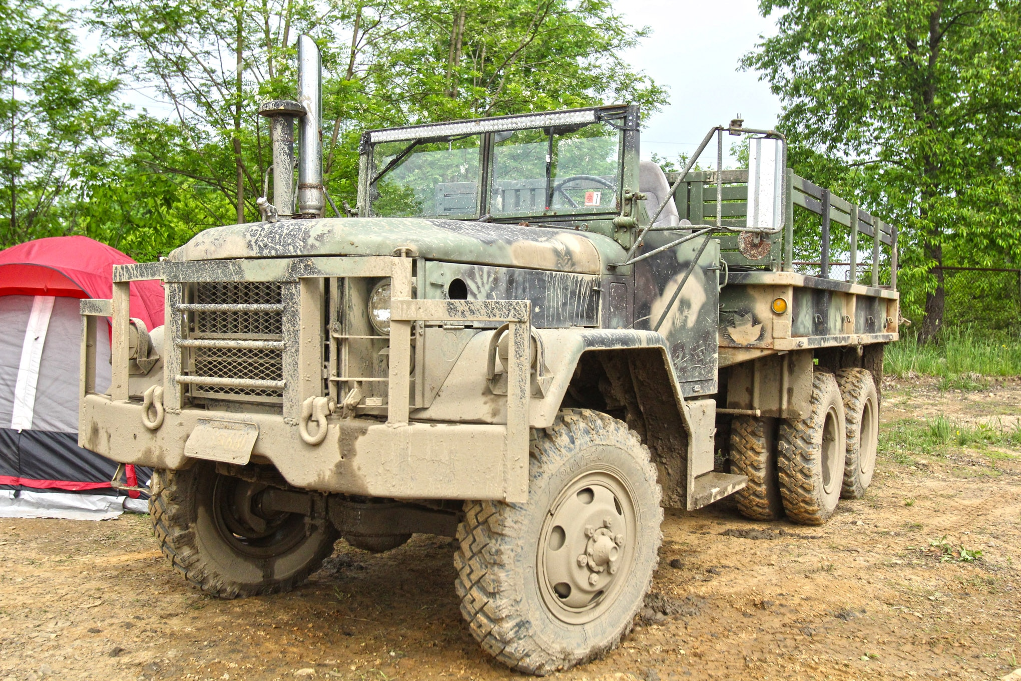 Not only does Dwayne Farrington bring his '71 deuce-and-a-half to the swampin' pits at Yankee Lake, but he daily-drives the rig and has even used it to get around Erie, Pennsylvania, when the roads were flooded.