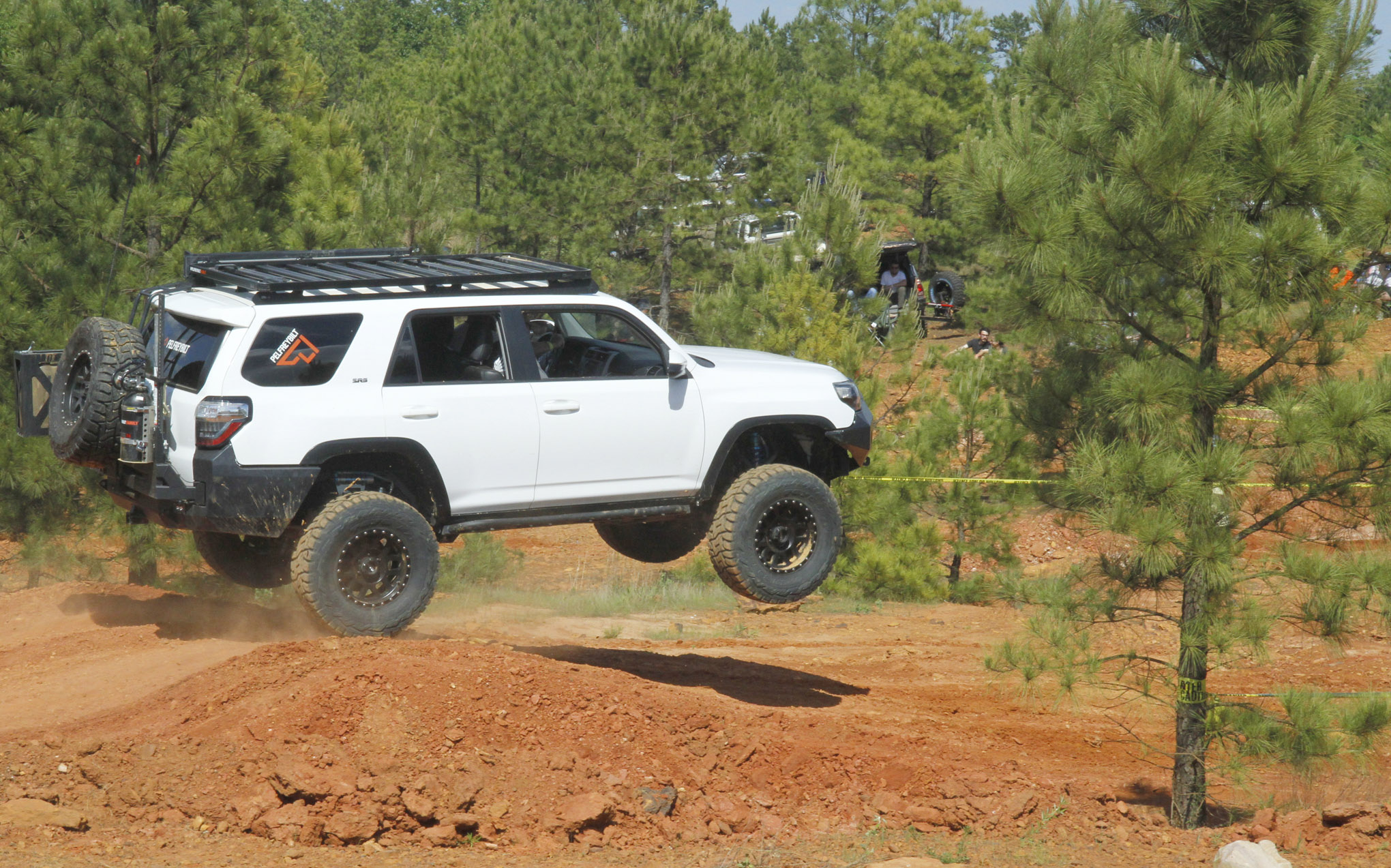 Saturday afternoon drivers competed in the Lone Star Stampede, a timed obstacle course. Tyler Pelfrey didn't hesitate to air out the family's well-built, late-model 4Runner.