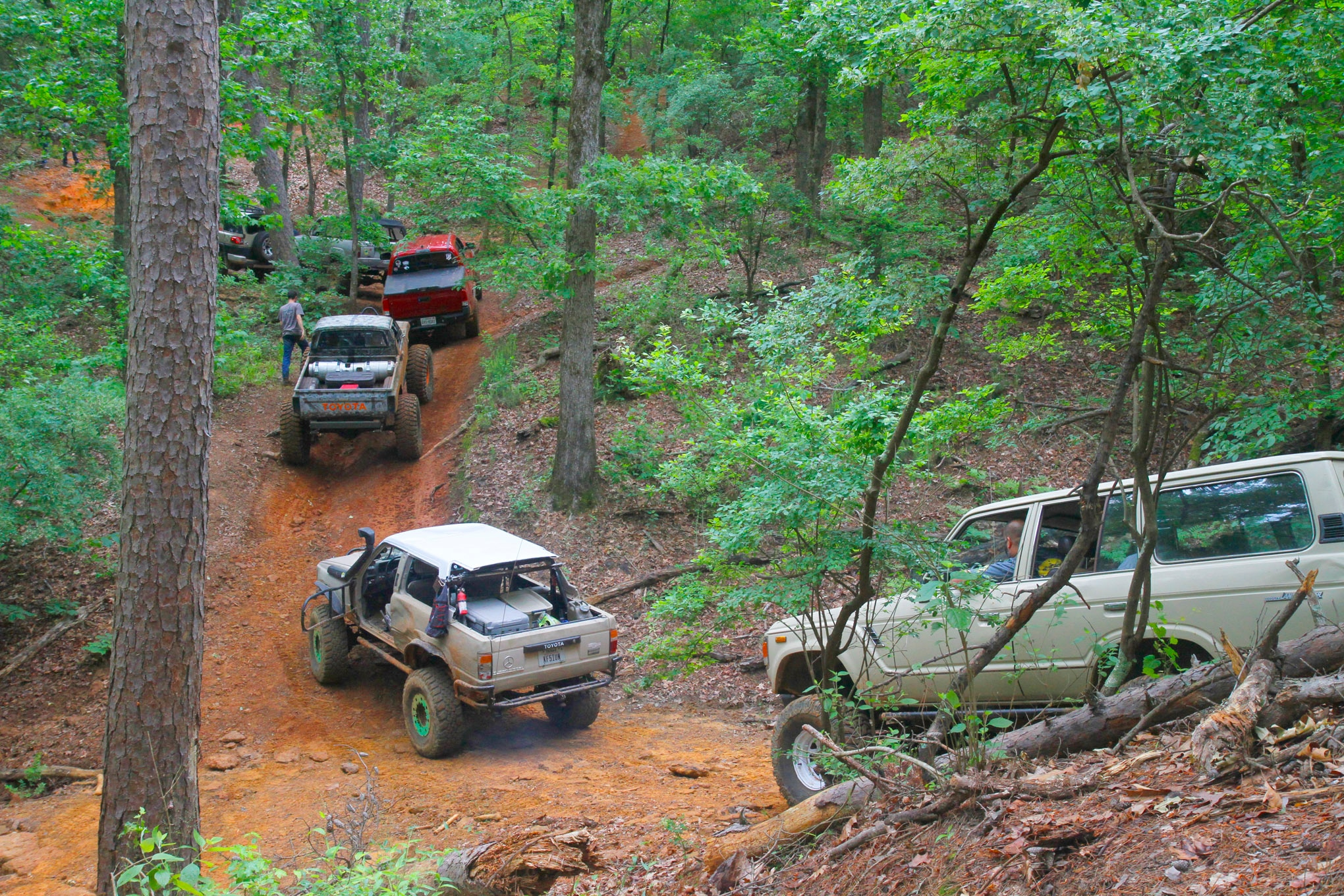 Most of the trails wind through the trees, and BMRA has some rocky hill climbs to fully test suspensions and traction.