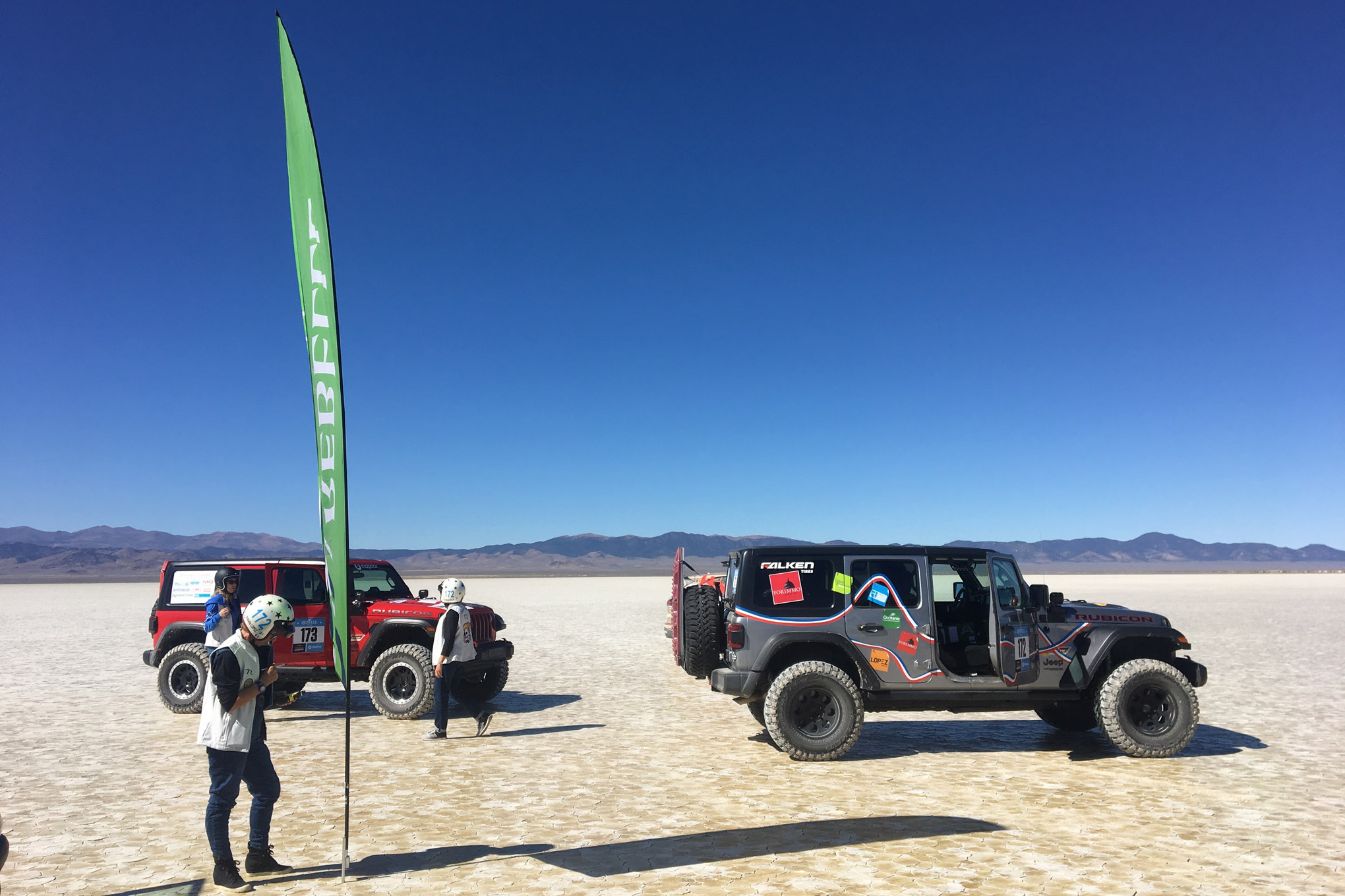 We had seven of our JLs compete in the 2018 Rebelle Rally. They all finished, AND finished with nothing more than one blown shock.