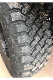 002 preparing a jeep tire tread