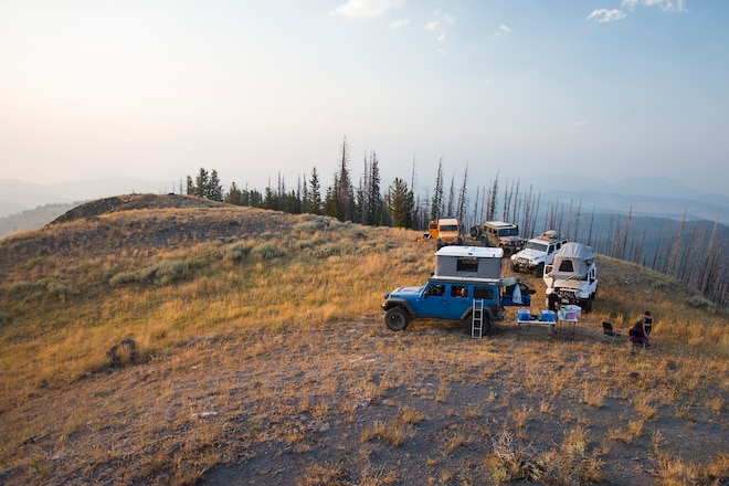 AEV Jeeps on the Washington Backcountry Discovery Route