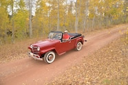 018 1951 willys overland jeepster jeep dirt road drive