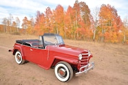 015 1951 willys overland jeepster top down side shot