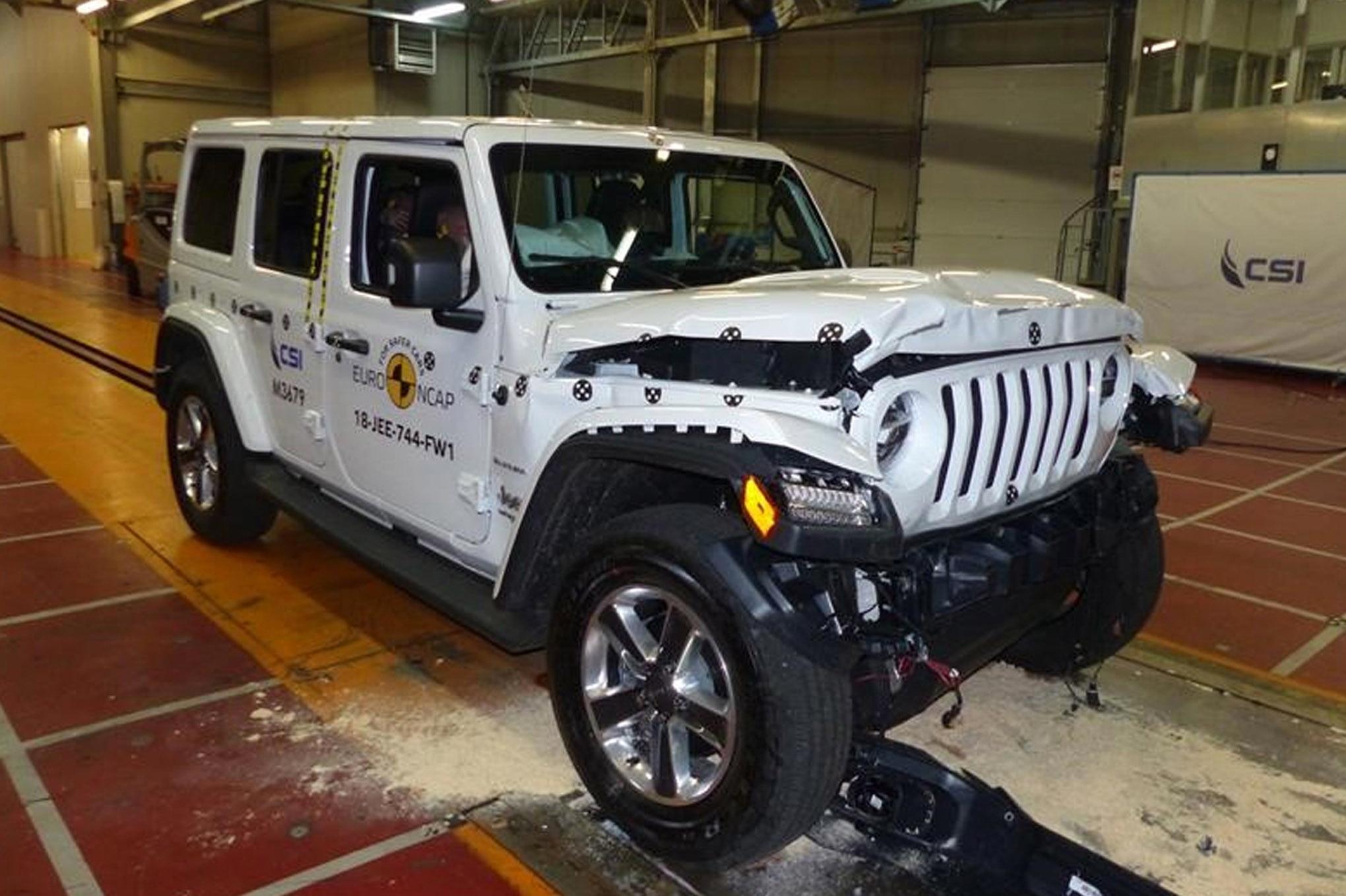 auto news four wheeler euro ncap crash test jeep wrangler
