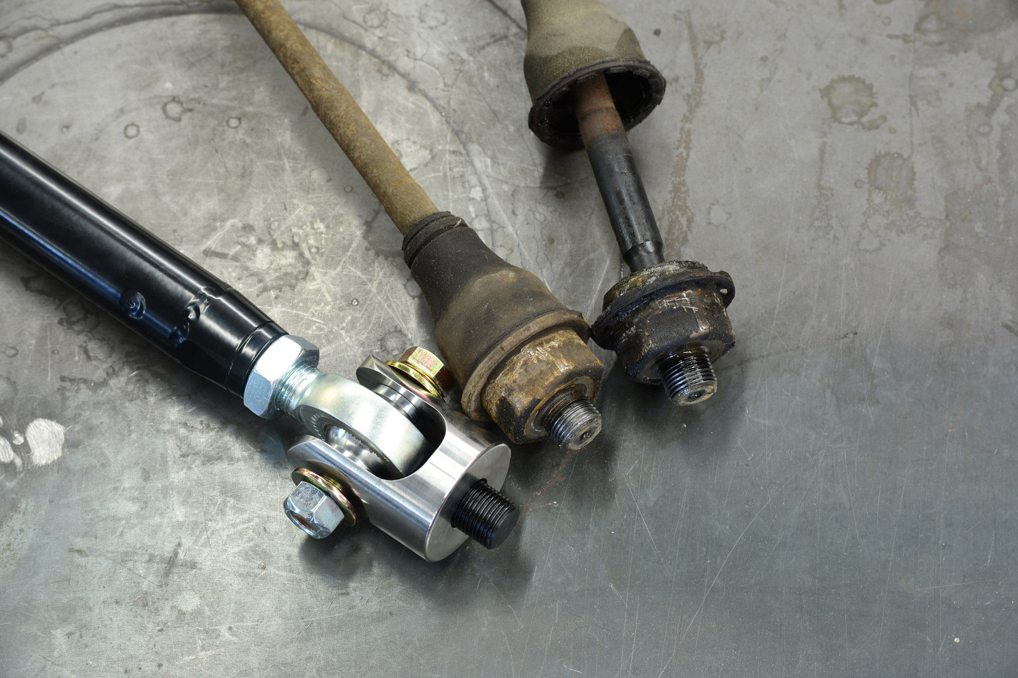 004 techline gm hummer h3 ifs 4x4 hd heavy duty tie rods broken bent replacement jd fabrication