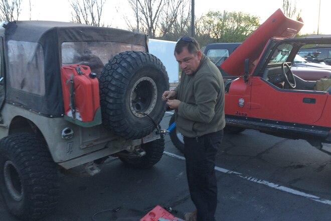 Sleep-Deprived, Slap-Happy Verne and Christian Plug a Tire in Moab EJS2016, Day 6 #EJS2016