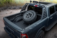 mopar 2019 ram 1500 rebel concept spare tire rack
