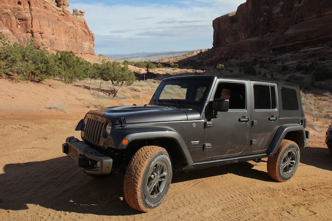 Exploring the Monitor and Merrimac trail in stock Jeeps during the Moab Easter Jeep Safari 2016 #EJS2016