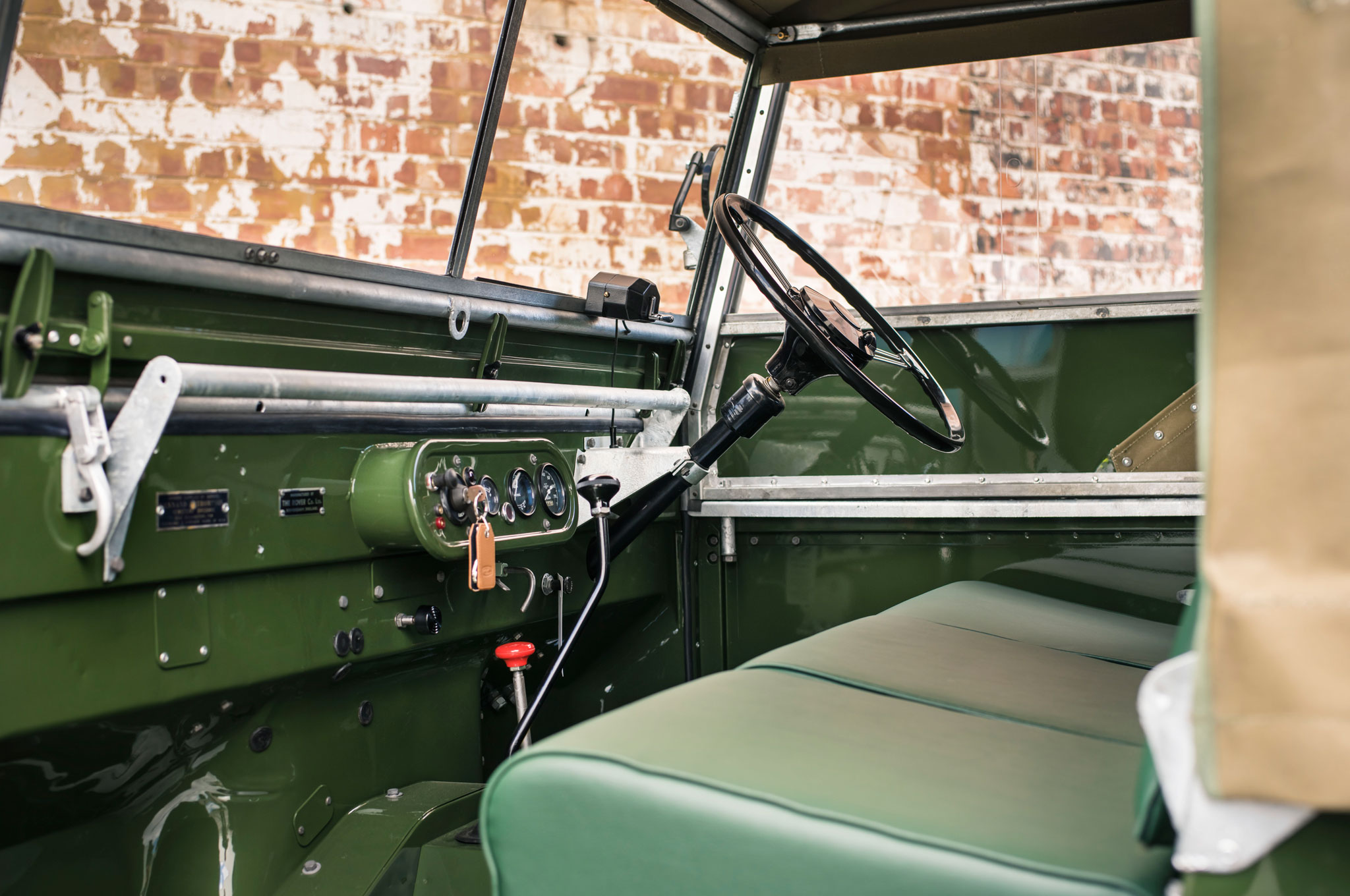 1948 land rover series i reborn dashboard