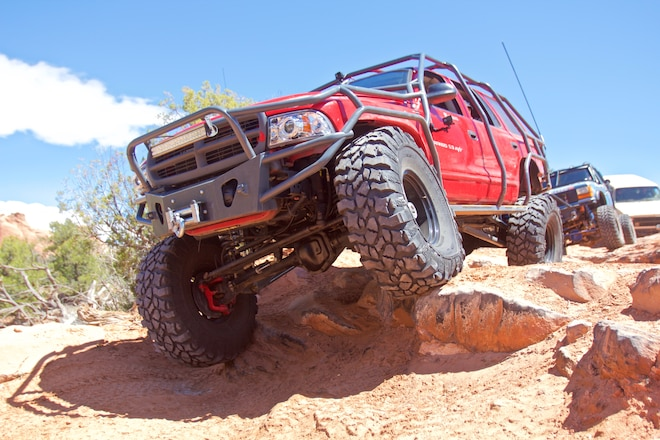 #EJS2019 Video Action! Fullsize Invasion Goes Behind The Rocks In Moab For Easter Jeep Safari