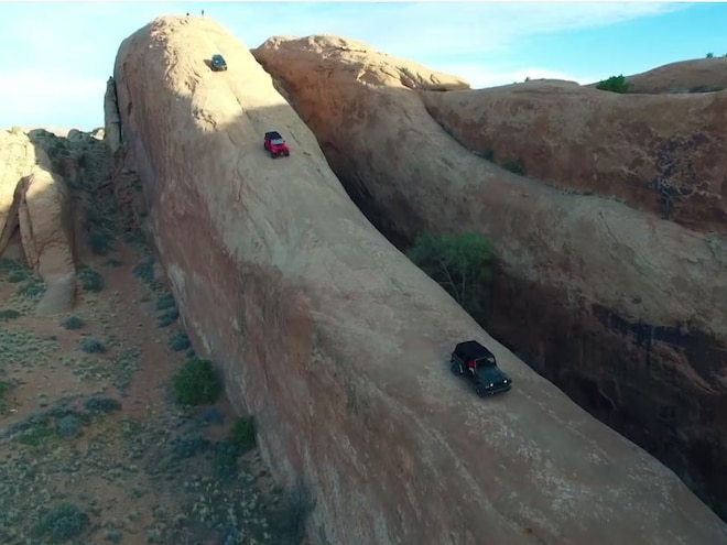 Jeep Takes on Lion's Back in Moab - Video