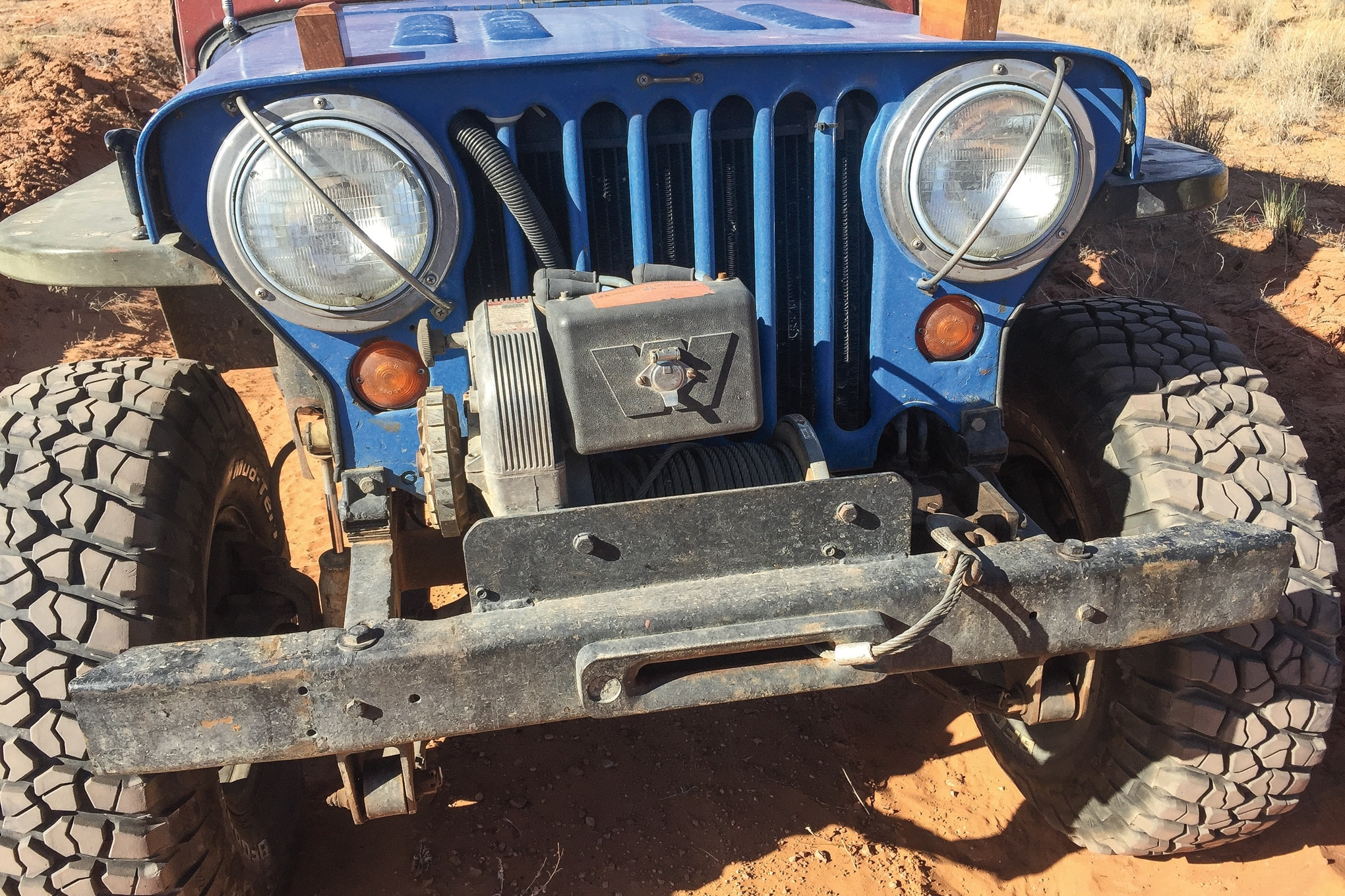 vintage warn winches lead