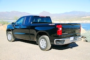 021 2019 chevy silverado 2.7l colorado zr2 bison first drive silverado left rear view