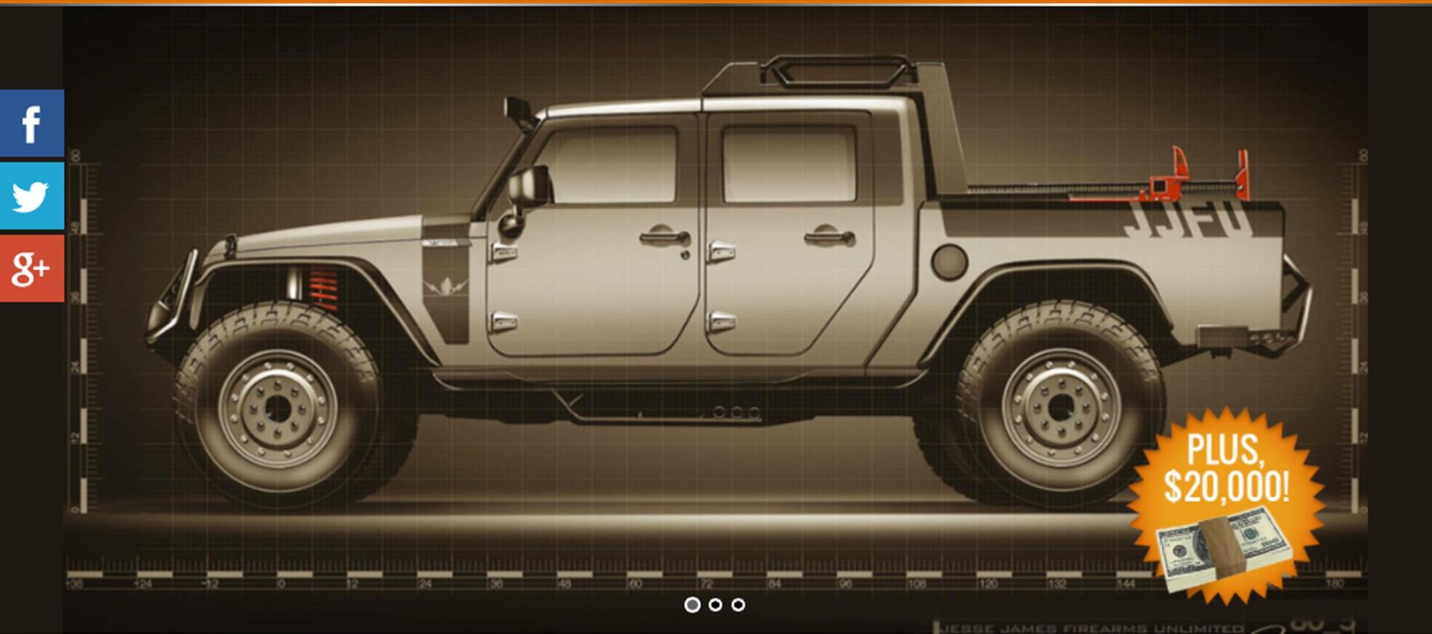 002 auto news jp jeep national rifle association nra raffle sweepstakes jesse james win custom