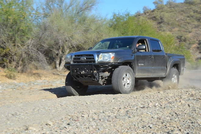 Testing the new Rancho Performance Control Arms for 2009 Toyota Tacoma