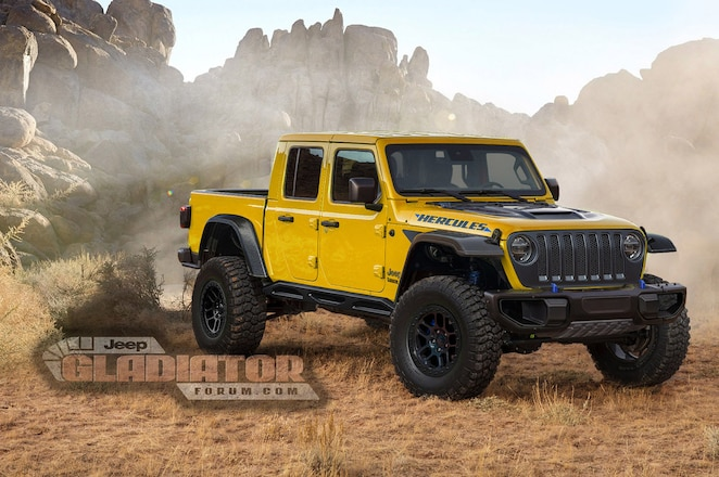 """Is Jeep Working Up a Raptor-Rivaling Gladiator """"Hercules"""" Off-Roader?"""