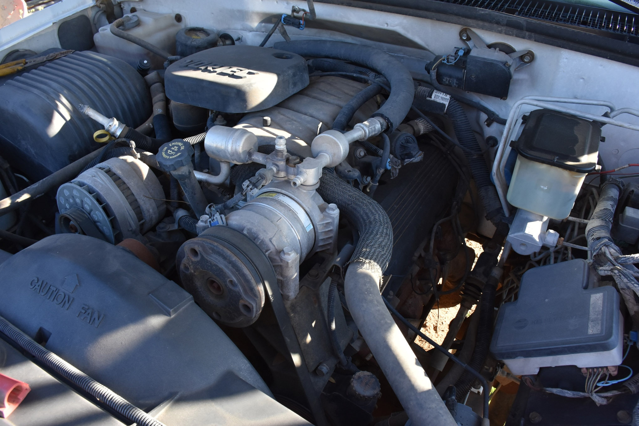 "Under the hood of the beast lies a Vortec GM 454. I know how to start an old carbureted engine that has been sitting for 10 years, but an old multiport fuel-injected engine is different. If the engine runs without a knock we are in business and the nearly free junkyard monster truck can become a reality. We know it needs a battery, spark plug wires, and some fresh gas at least. We also talked to GM expert Stephen Watson at Offroad Design (<a href=""http://offroaddesign.com/"" title="""" target=""_blank"" rel=""nofollow"">offroaddesign.com</a>) for tips on what to try with this old engine. Stay tuned!"