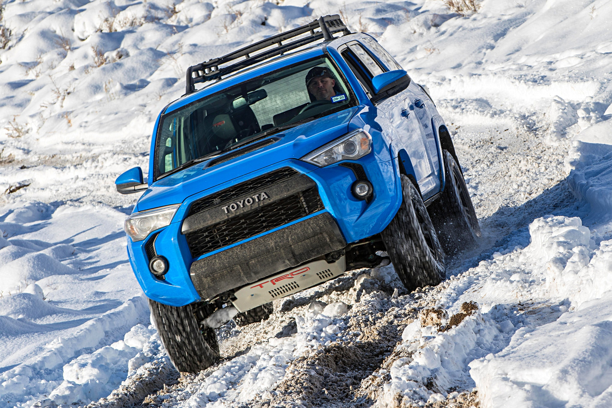 2019 suv of the year toyota 4Runner TRD pro in snow