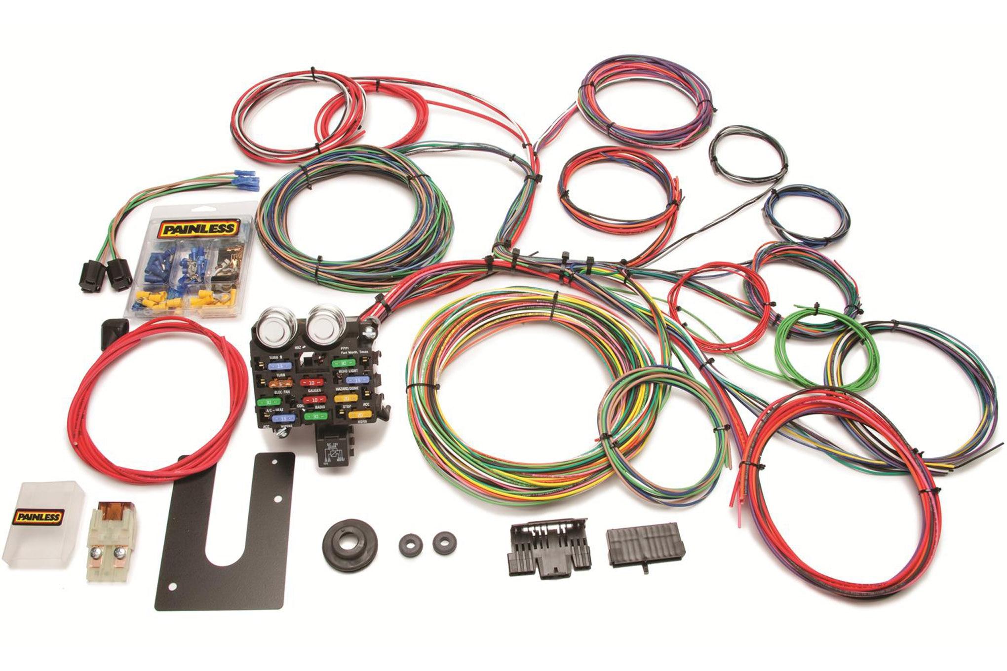 techline painless performance universal wiring harness