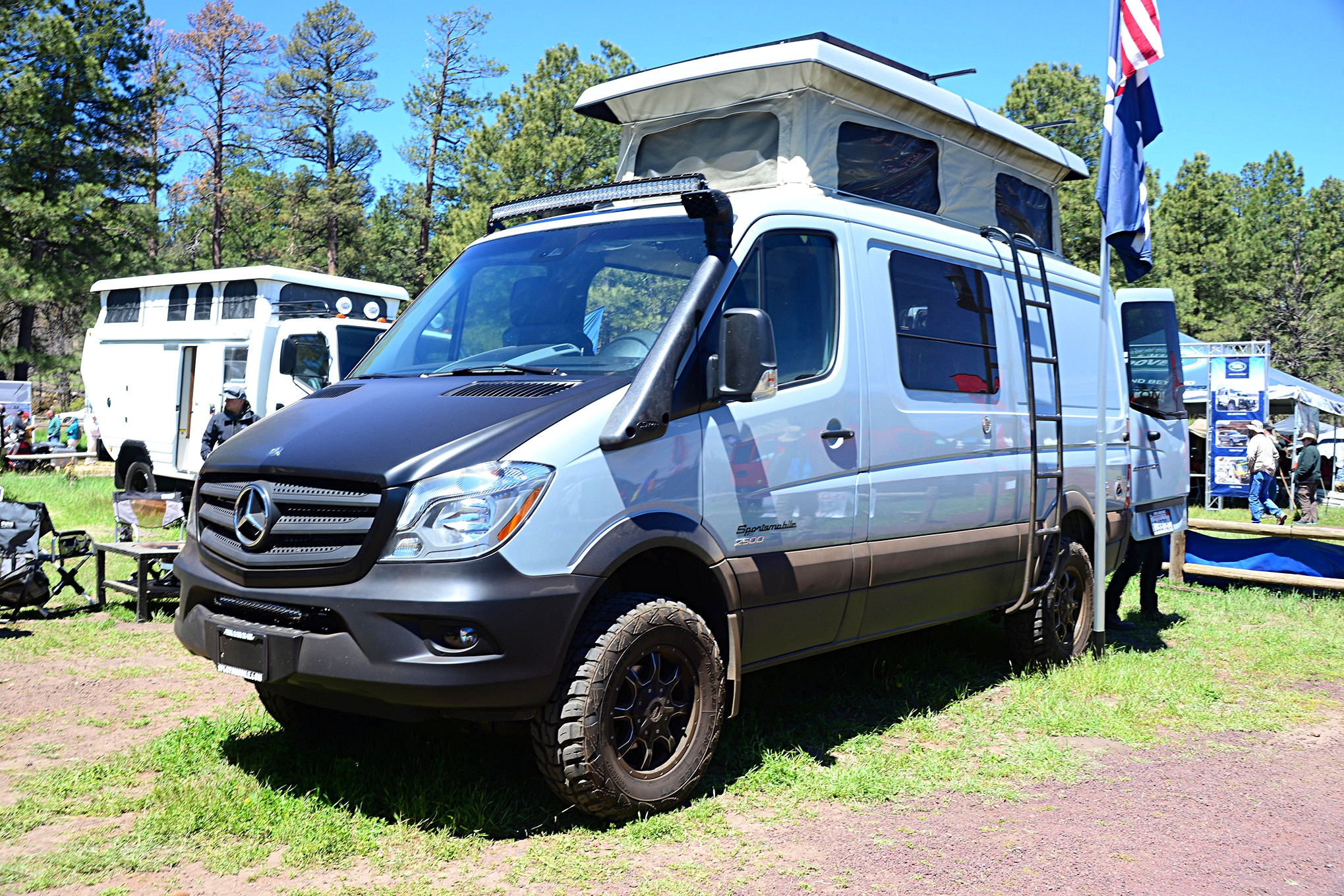 017 2016 Overland Expo 4x4 Vehicles Camping Flagstaff Mormon Lake Arizona Mercedes Sprinter Van Diesel Camper Photo 178316849