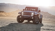 2020 Jeep Gladiator Rubicon front view with sun