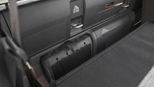 2020 Jeep Gladiator Rubicon interior seats folded