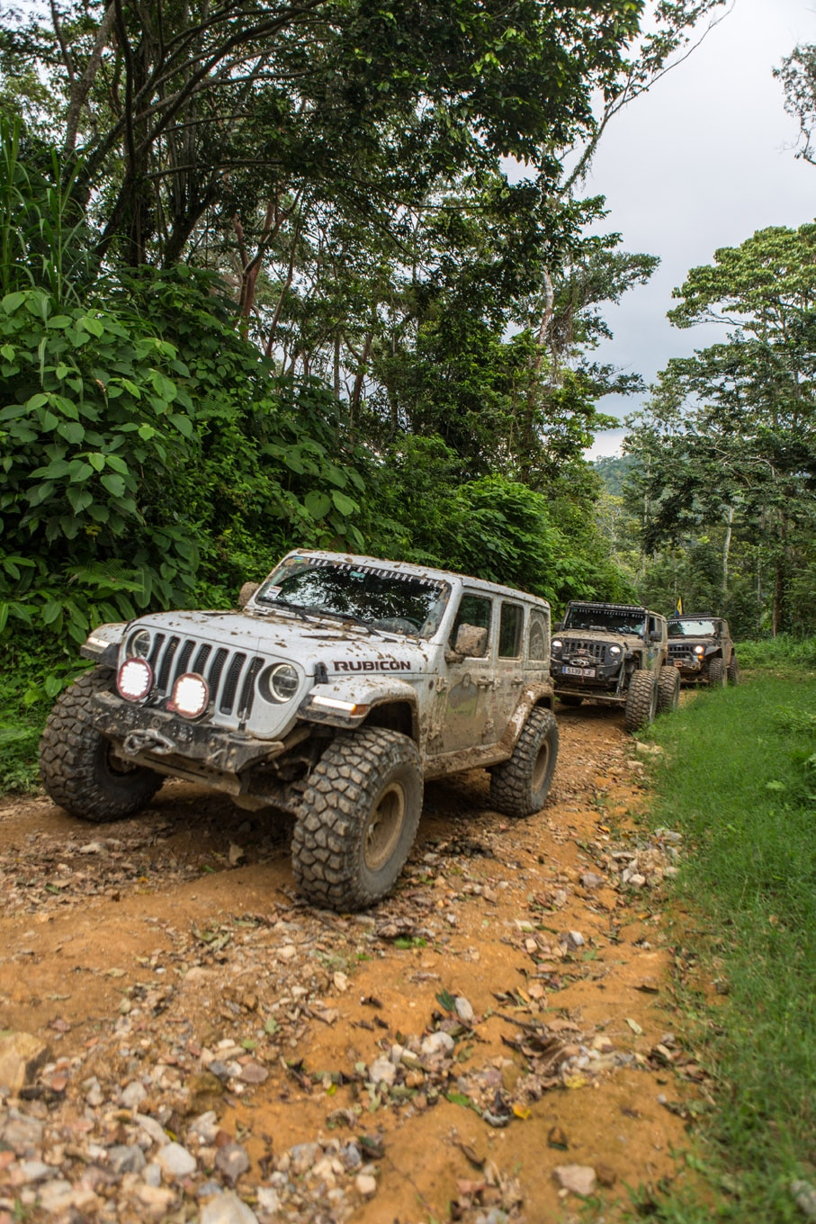 We don't know for certain that this is the first JL in Honduras, but we definitely did not see any other ones. Carlos Flores set the route for RAW in his JL and was often leading the way on the trip, so the ARB Intensity lights and Warn Zeon winch were both regularly put to use.
