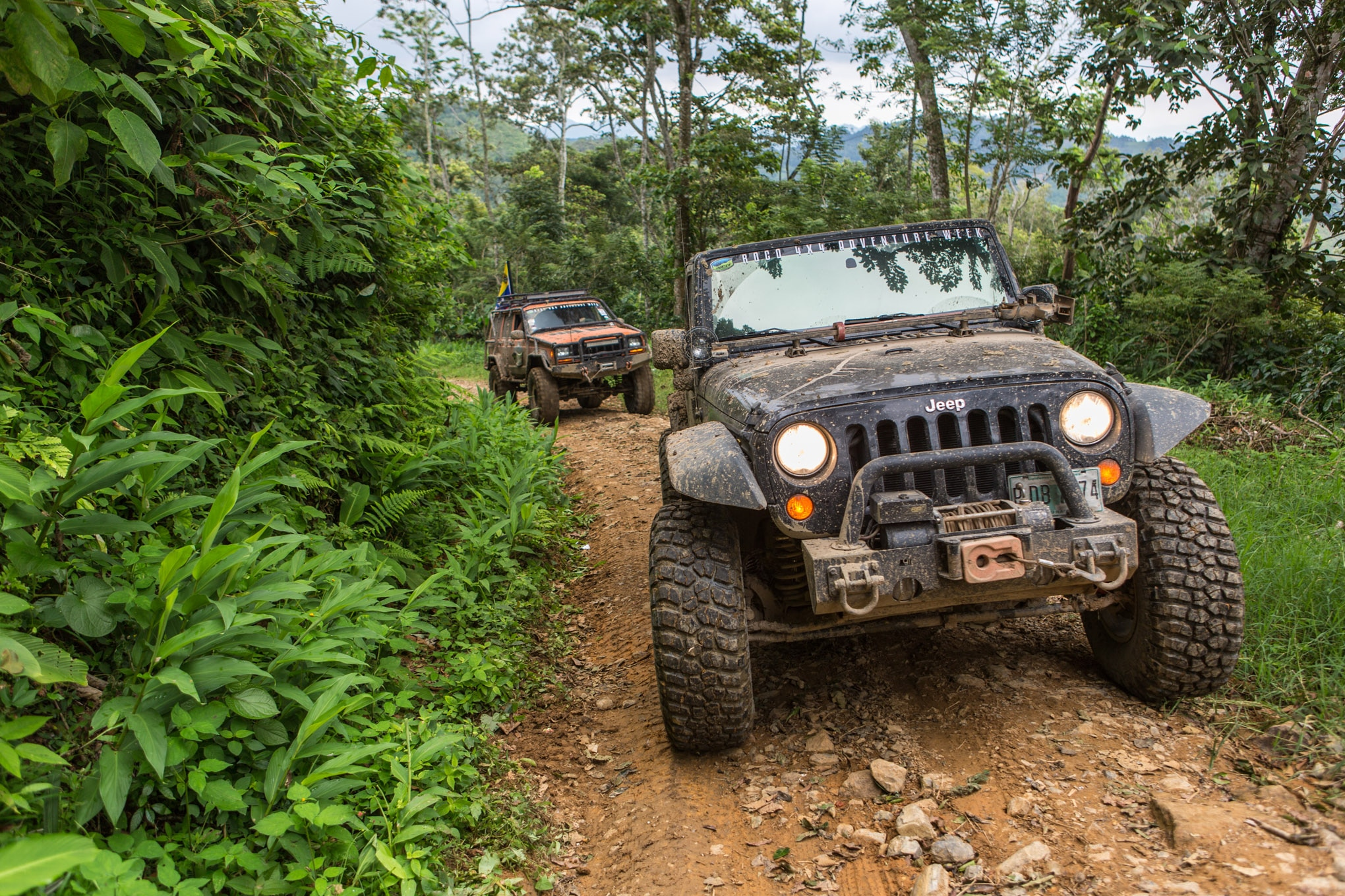 It comes in handy to have a doctor along on any off-road trip, but particularly one to the remote corners of Honduras. Abel Sandoval kept the entire group healthy and had a lot of fun doing it from behind the wheel of his two-door JK. The Jeep has a 3.5-inch BDS suspension that makes room for 35-inch BFGoodrich KM2 tires.