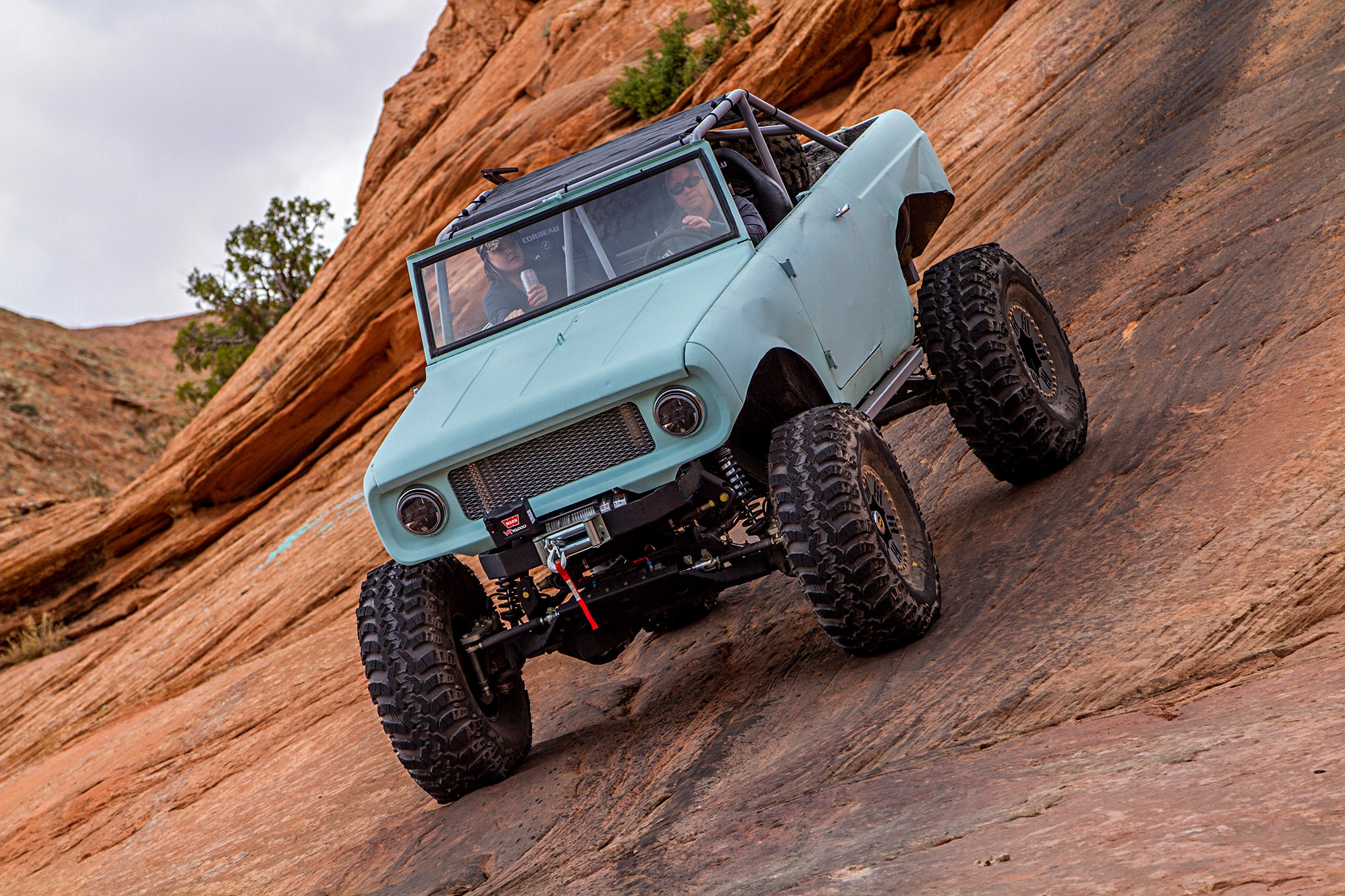 a 1962 scout 80 with some super-secret off-road modifications