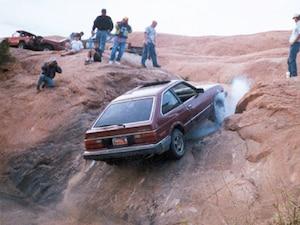 Honda Accord Hill Climb Moab Utah Rear View