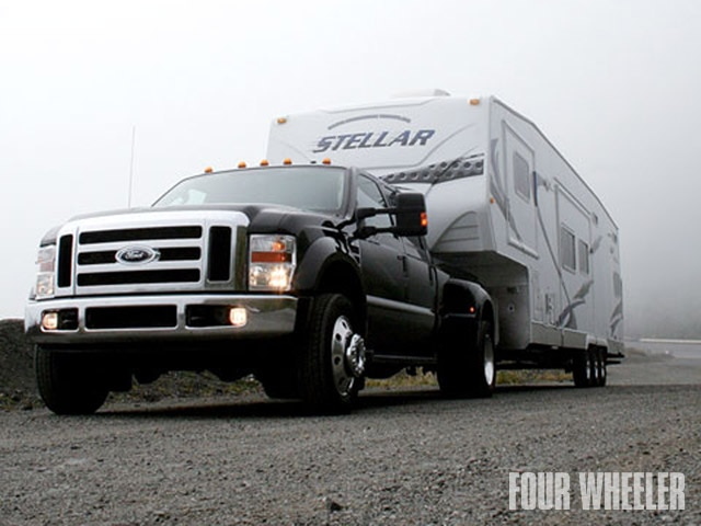 129 0907 01 z+dually truck towing accessories+ford 450 stellar trailer