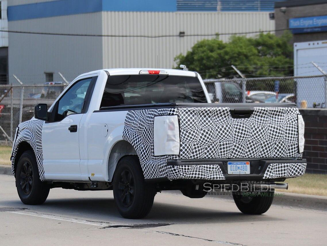 2018 ford f 150 single cab rear three quarter