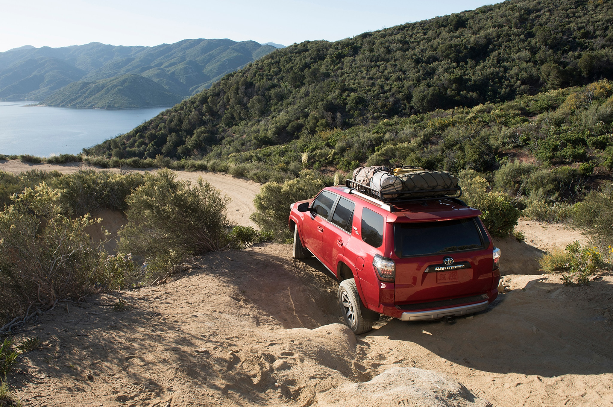 2017 Toyota 4Runner TRD Off Road Premium rear end uphill