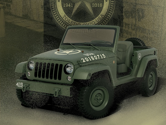 Jeep Builds WWII Salute Concept Wrangler to Celebrate 75th Anniversary
