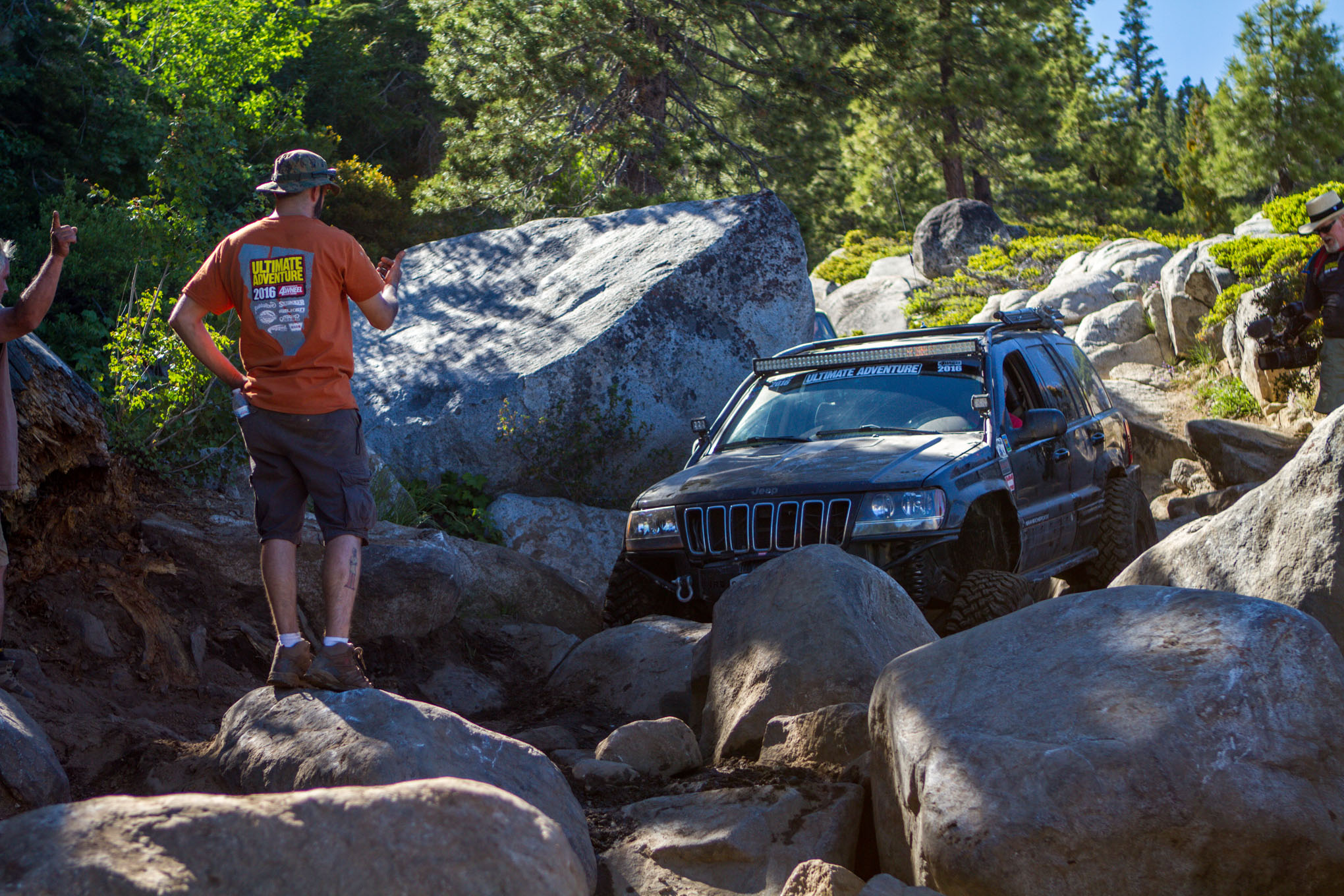 004 2016 Ultimate Adventure vehicles and people