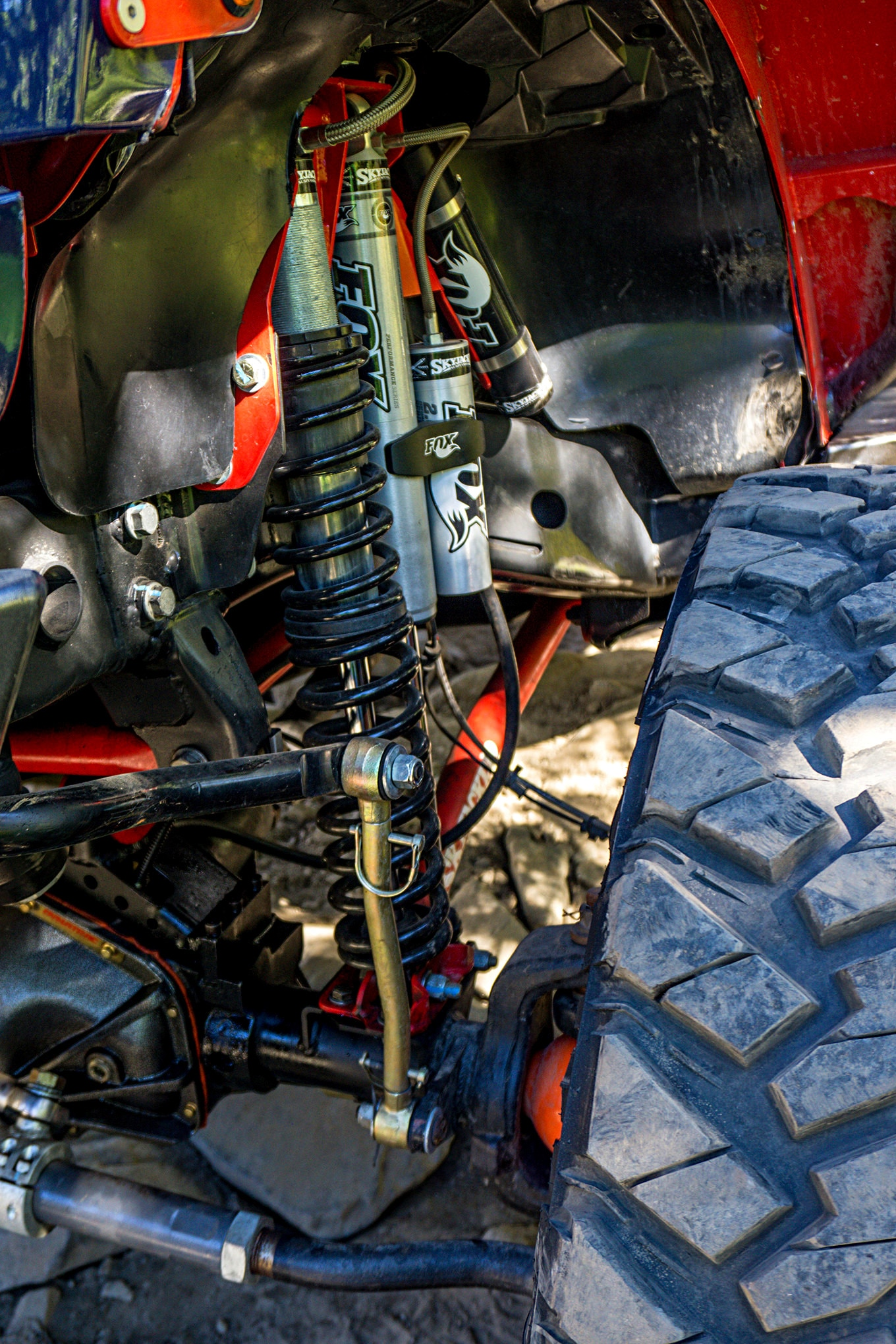 The Ultimate Adventure is also a great place to test new ideas and products. Lonnie McCurry was testing a new JK suspension system with Fox coilover shocks and a secondary remote-reservoir shock on his 7,000-pound JK. If they can take that sort of beating McCurry knows he doesn't have to worry about warranty complaints.