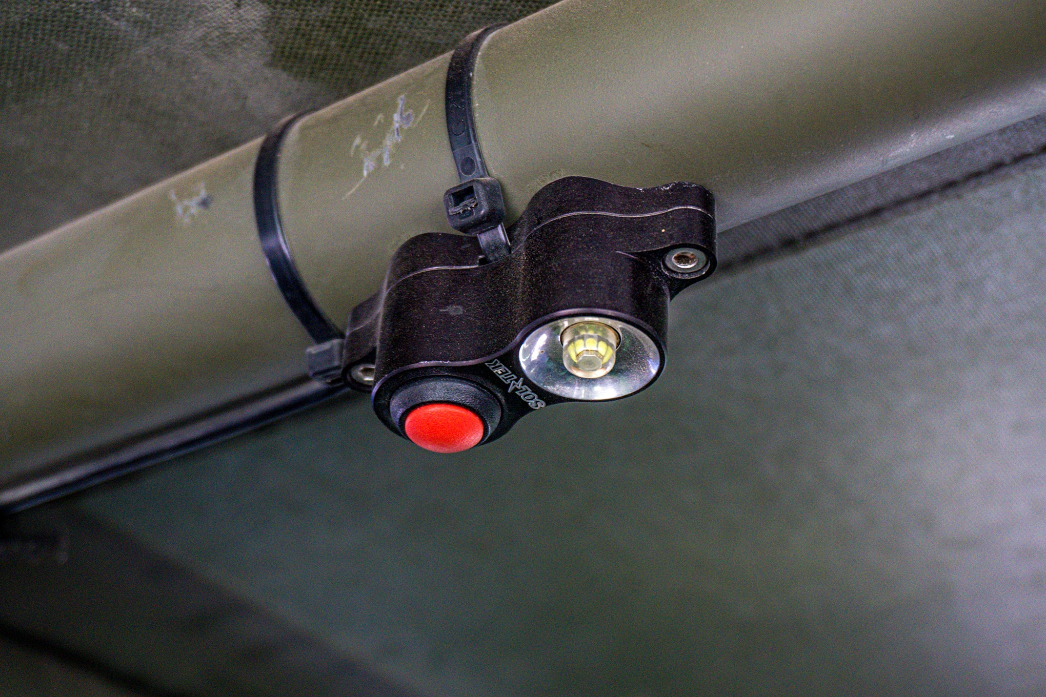 There is nothing worse that rummaging through your rig looking for something in the middle of the night when you are dirty and tired and just want to set up camp and get to sleep. Baja Designs makes these cool little LED dome lights that spread a wide light pattern without blinding you.