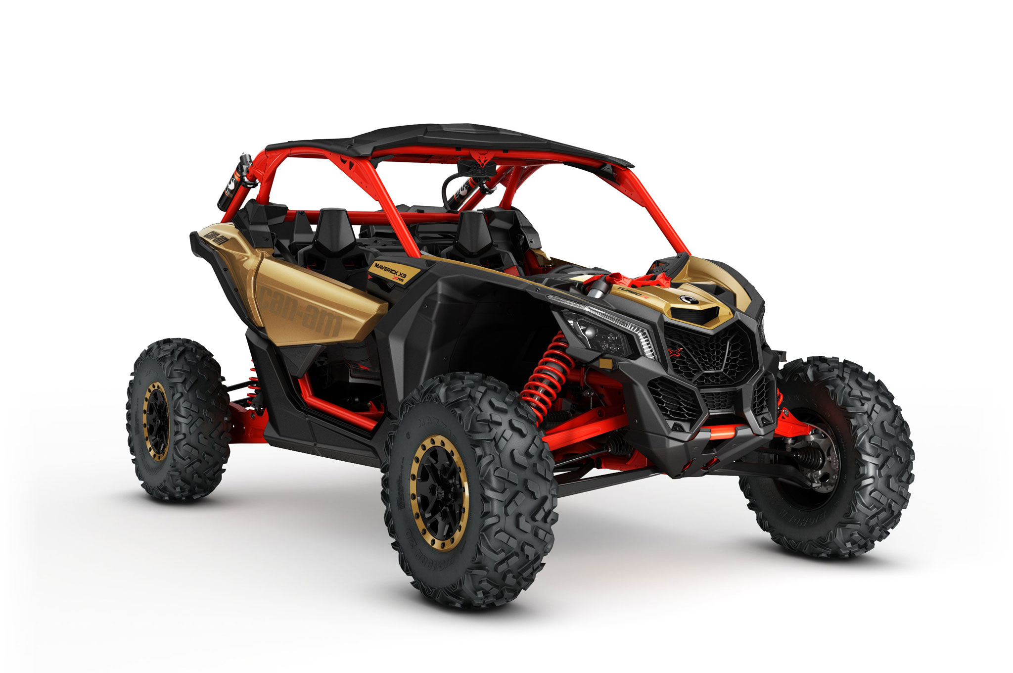 2017 can am maverick x3 turbo rs right front angle studio