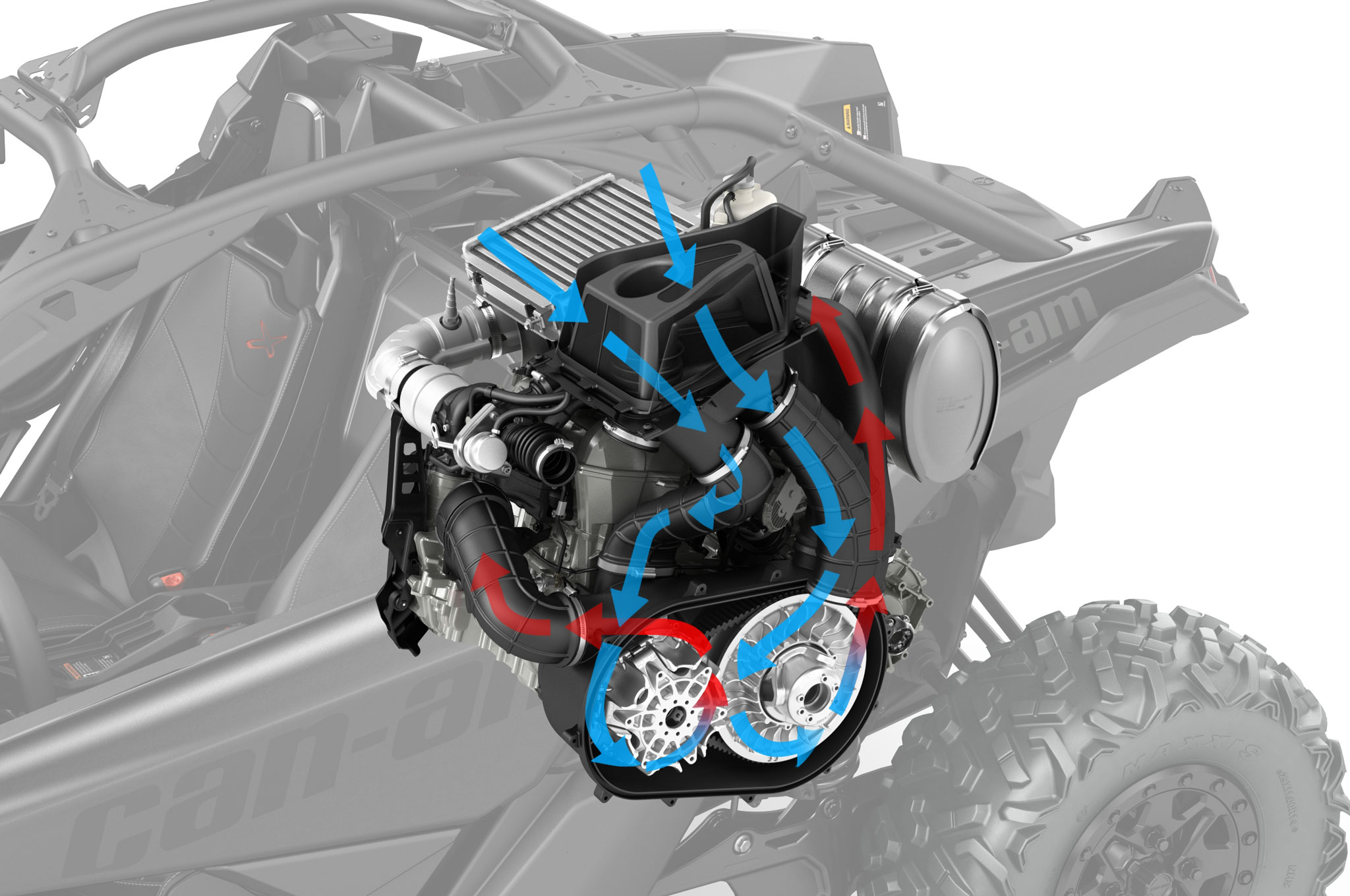 2017 can am maverick x3 turbo transmission airflow