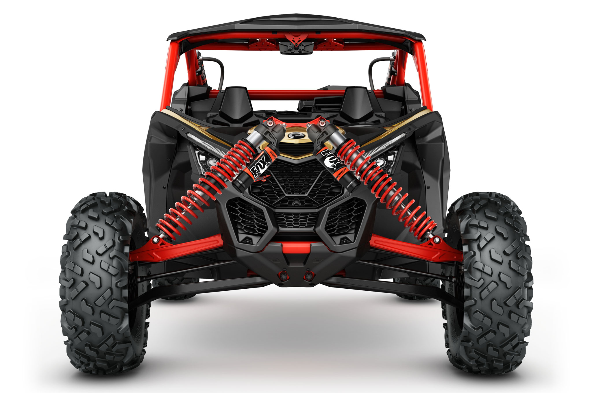 2017 can am maverick x3 turbo rs front suspension detail