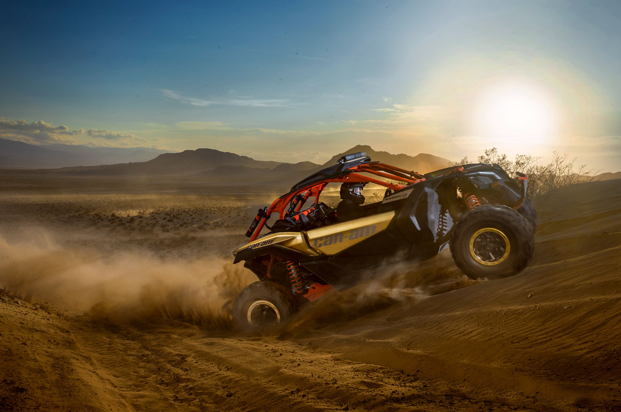 2017 can am maverick x3 turbo rs right side desert uphill