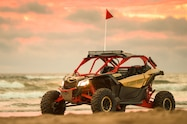2017 can am maverick x3 turbo rs left front beach